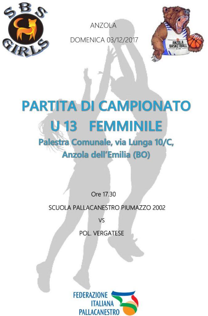 Partita di Campionato U13 Femminile 1