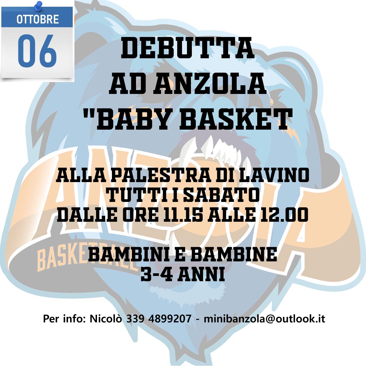 Debutta anche ad Anzola il baby basket