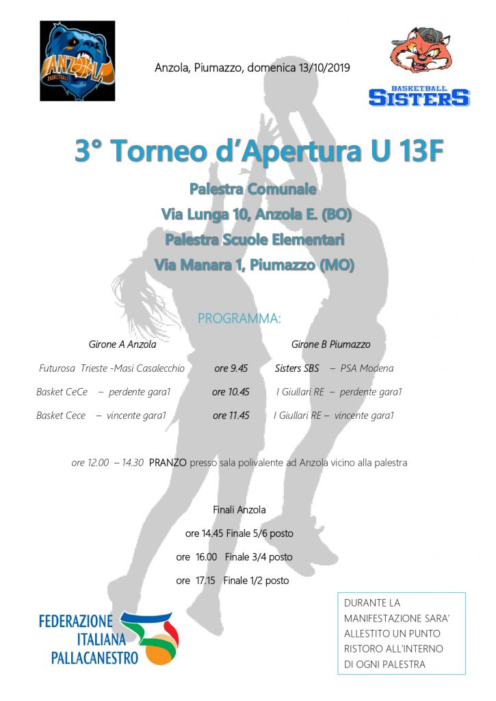 3° Torneo d'Apertura U13 F 1